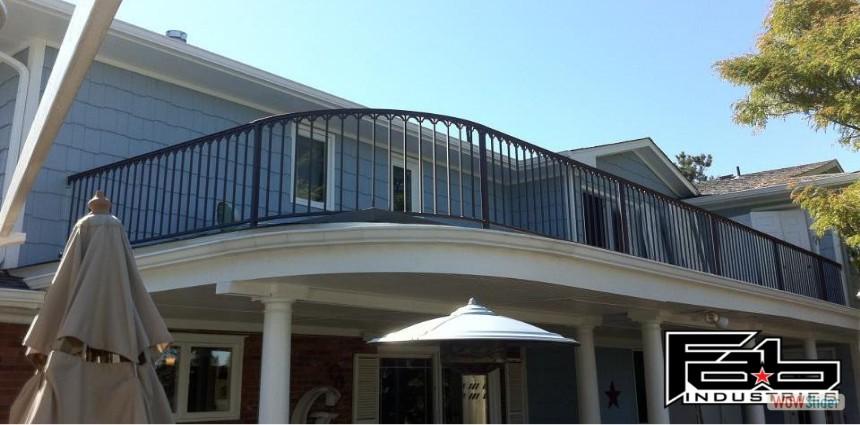 solid bar railing